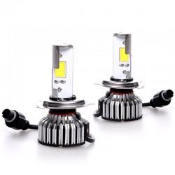 LED KIT με 2 λάμπες COB H4 με περίβλημα αλουμινίου και καλωδίωση - 30w