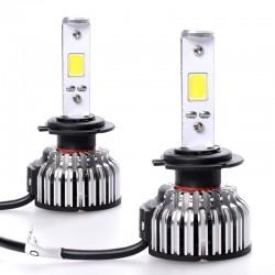 LED KIT με 2 λάμπες COB H7 με περίβλημα αλουμινίου και καλωδίωση - 24w