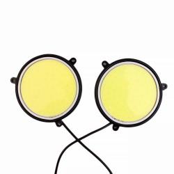 Στρογγυλά φώτα αυτοκινήτου COB LED ημέρας 12V/7W - 9cm - ψυχρό φως