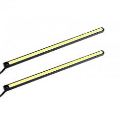 Αδιάβροχο σετ φώτα COB LED ημέρας για το αυτοκίνητο 5W/12V/11cm - Λευκό φως