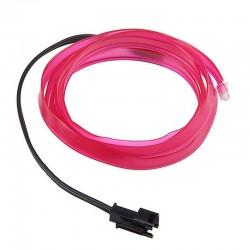 Εύκαμπτο LED καλώδιο 2m για την εσωτερική διακόσμηση κάθε αυτοκινήτου - El wire - Φούξια
