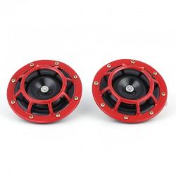 Διπλή ηλεκτρική κόρνα αυτοκινήτου 12V/139dB 2 τόνων - Κόκκινο