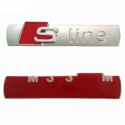 Μεταλλικό 3D σήμα Sline με αυτοκόλλητο για το αυτοκίνητο - Ασημί