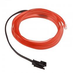 Εύκαμπτο LED καλώδιο για εσωτερική διακόσμηση αυτοκινήτου - Κόκκινο